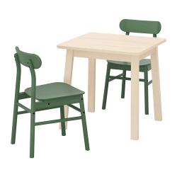 NORRÅKER/RÖNNINGE Mesa y dos sillas