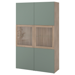 BESTÅ Comb almacenaje+puertas vidrio