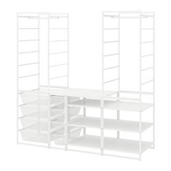 JONAXEL Estructura organización 173x173x51 cm con cestos, barras y estantes
