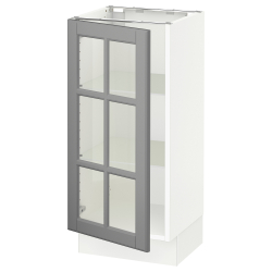 SEKTION Armario bajo+puerta de vidrio