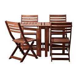 ÄPPLARÖ Mesa con 4 sillas