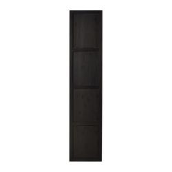 HEMNES Puerta negro-marrón