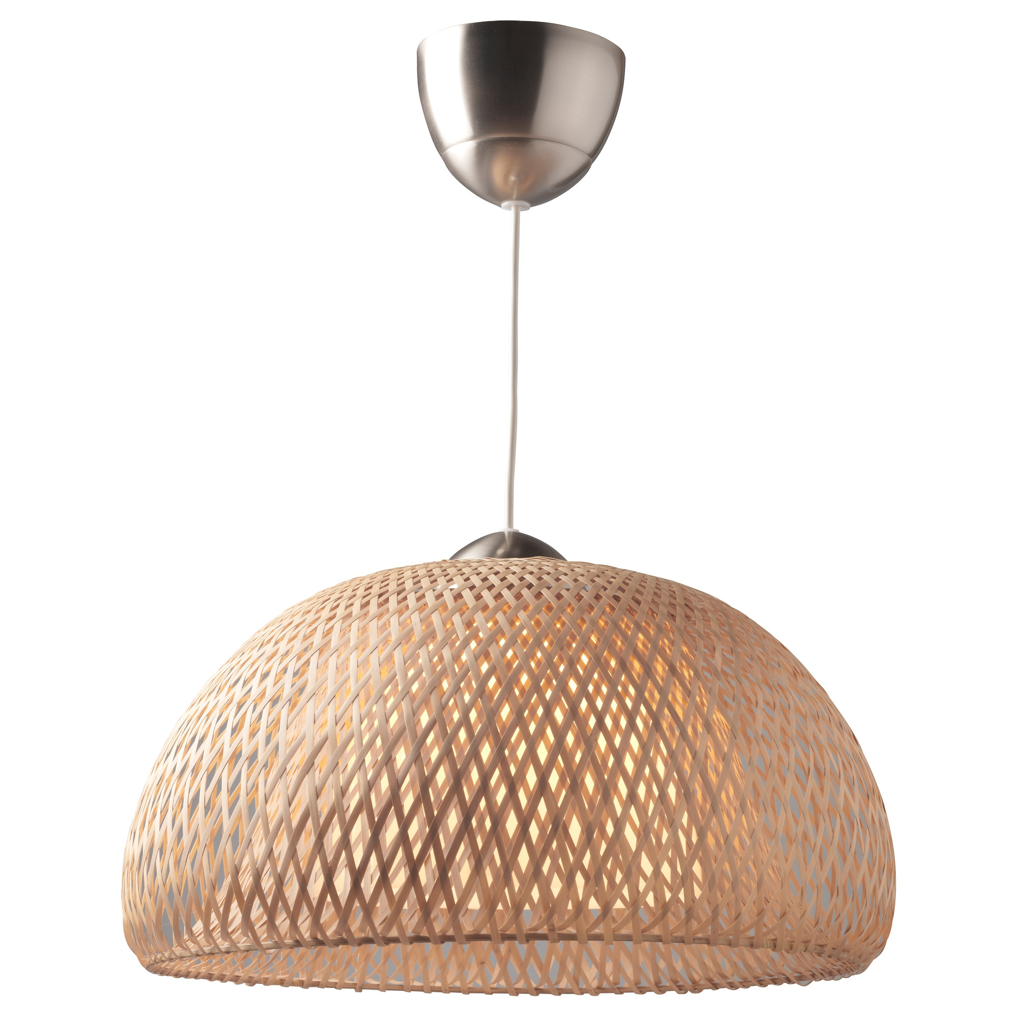 BÖJA lámpara de techo ratán natural