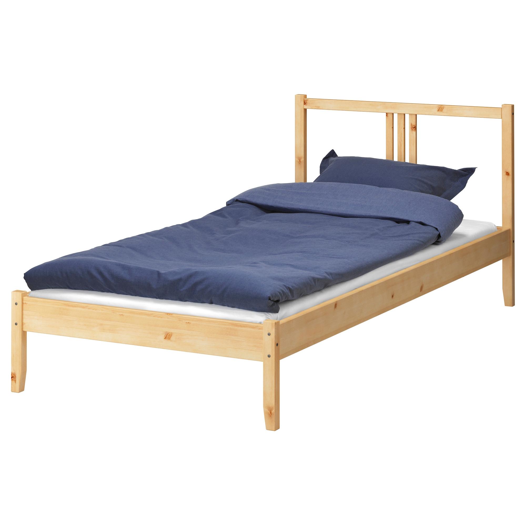 Fjellse estructura cama 90 pino sin tratar - Muebles de pino sin tratar ...