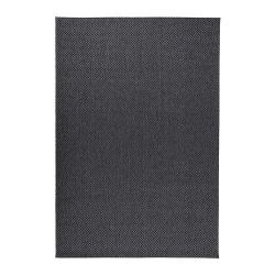 MORUM Alfombra, lisa 160x230 gris osc