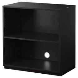 GALANT Estantería 80x80 negro-marrón