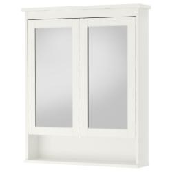 HEMNES Clóset de espejo con 2 puertas
