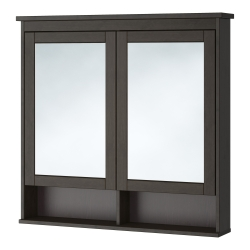 HEMNES Armario con espejo, 2 puertas