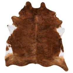 KOLDBY Piel de vaca marrón/blanco