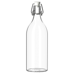 KORKEN Botella vidrio con tapón, 1lt
