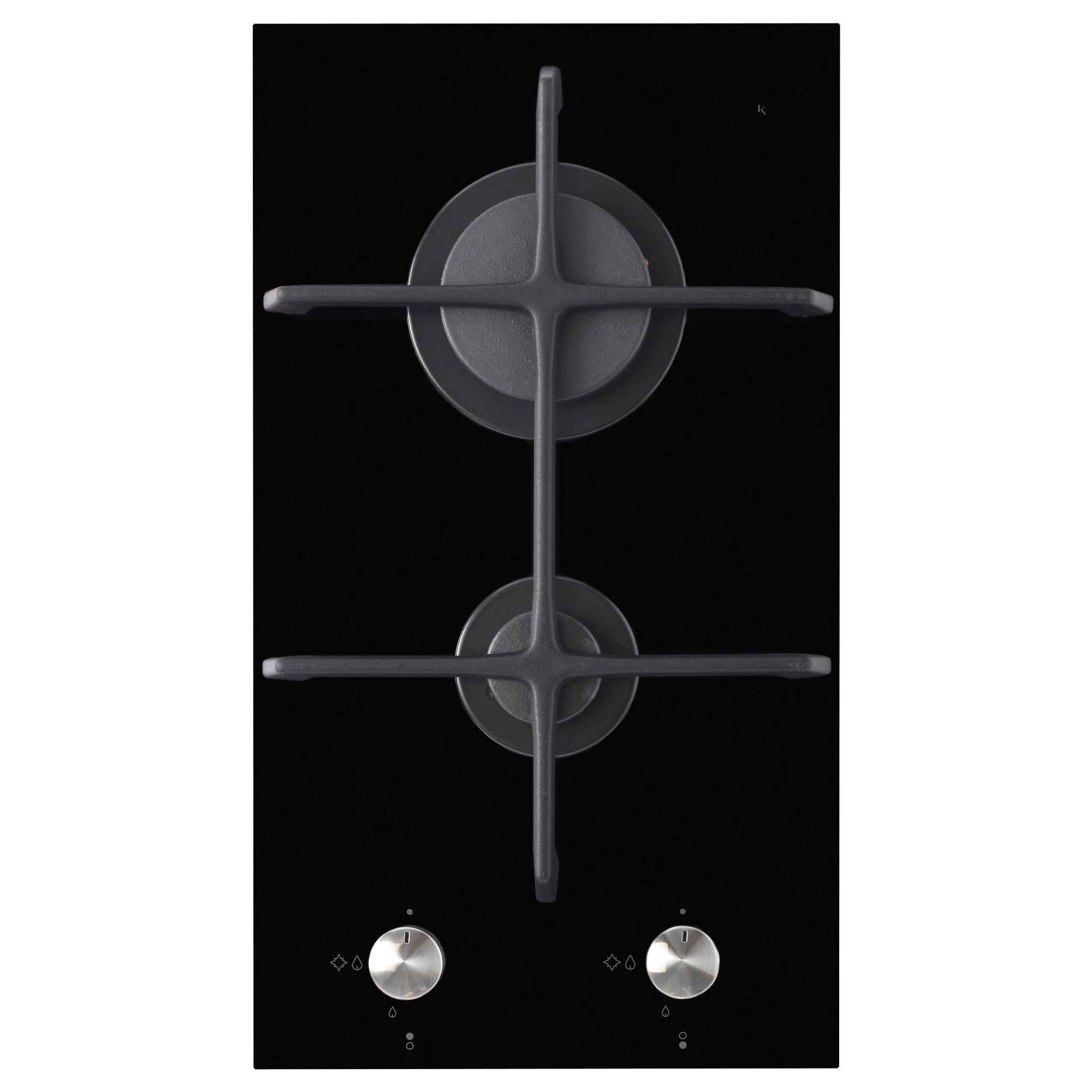 M 214 Jlig Domino Gas Hob 1 Burner Black 29 Cm Ikea