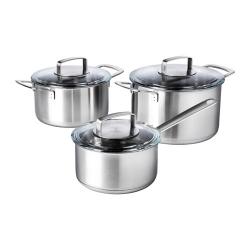 IKEA 365+ Batería de cocina, 6 piezas