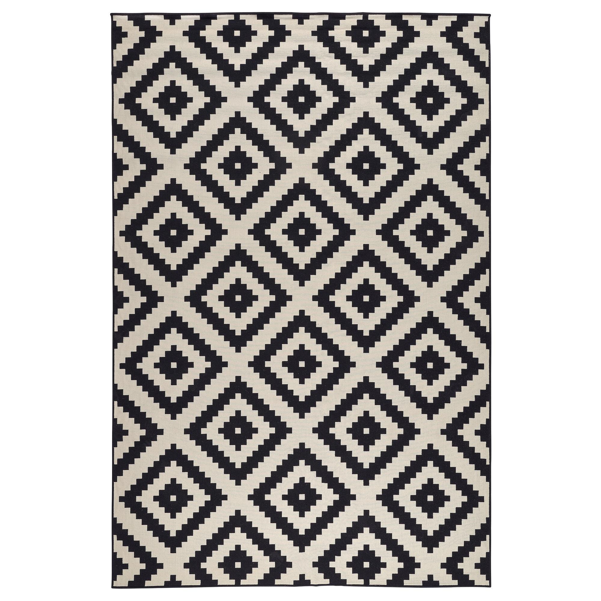 lappljung ruta alfombra, pelo corto 200x300