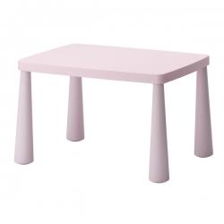 MAMMUT Mesa para niños rosa claro