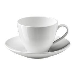 VÄRDERA Taza de té con plato
