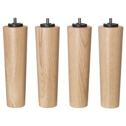 BRYNILEN Patas 20 cm para base de colchón, 4 unidades roble