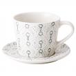 ENIGT Taza de té con plato