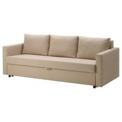 FRIHETEN Sofá cama 3 plazas SKIFTEBO beige