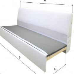 1 x RÅTORP Armazón módulo 2 asientos