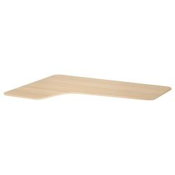 1 x BEKANT Tablero para escritorio 160x110 cm esquina izquierda roble