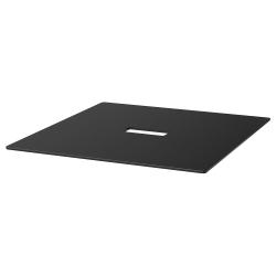 BEKANT Tablero para mesa de reuniones 140x140 cm negro