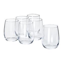 STORSINT Juego de 6 vasos, cristalino, 37cl