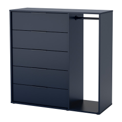 NORDMELA Chest of drawers with clothes rail