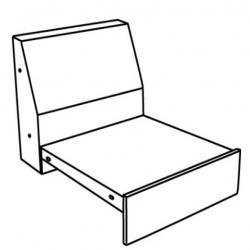 DARETORP Armazón módulo 1 asiento
