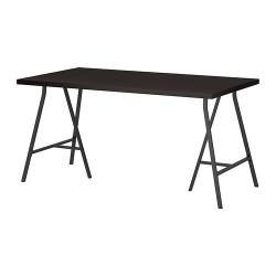 LINNMON/LERBERG Mesa de escritorio 150x75 cm negro-marrón/gris
