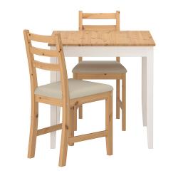 LERHAMN Mesa y dos sillas