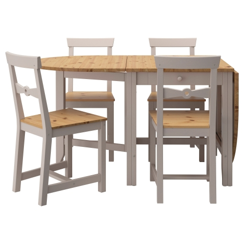 GAMLEBY Mesa con 4 sillas