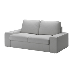 KIVIK Sofá 2 plazas con funda ORRSTA gris claro