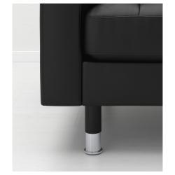 LANDSKRONA Sillón piel BOMSTAD negro con patas de metal