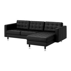 LANDSKRONA Sofá de 3 plazas con diván
