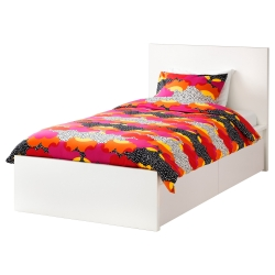 MALM Twin bed with Lönset slatted & 2 boxes