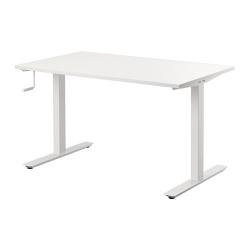SKARSTA Mesa de escritorio sentado/de pie 120x75 cm blanco
