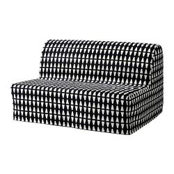 LYCKSELE LÖVÅS Sofá cama 2 plazas, EBBARP negro-blanco