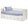 HEMNES Day-bed with 2 HUSVIKA mattresses