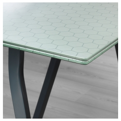 GLASHOLM/LERBERG Mesa de escritorio 148x73 cm vidrio