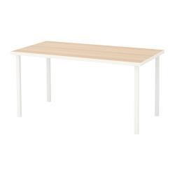 LINNMON/GODVIN Mesa de escritorio 150x75 cm blanco efecto roble