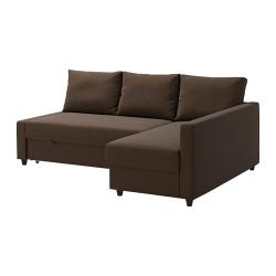 FRIHETEN Sofá cama esq dcha/izda SKIFTEBO marrón