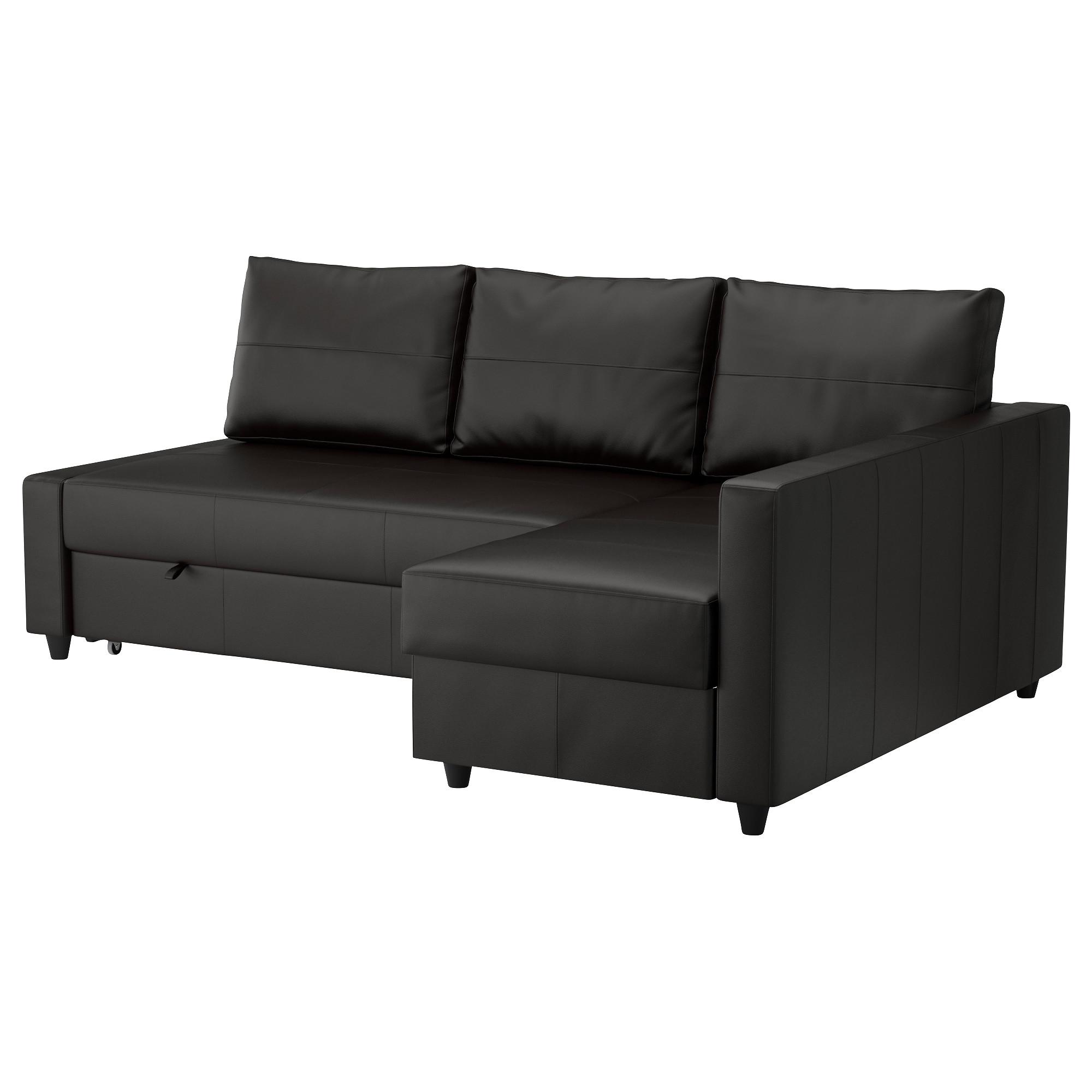 FRIHETEN sofá cama 3 pl con diván, BOMSTAD negro