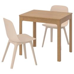 EKEDALEN/ODGER Mesa y dos sillas