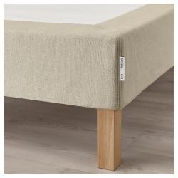 ESPEVÄR Base para colchón 140 con patas BURFJORD 20cm, funda beige