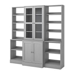 HAVSTA Comb almacenaje+puertas vidrio