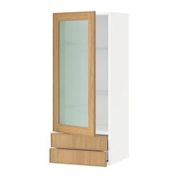 METOD/MAXIMERA Armario de pared puerta y cajones