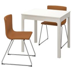 EKEDALEN/BERNHARD Mesa y 2 sillas