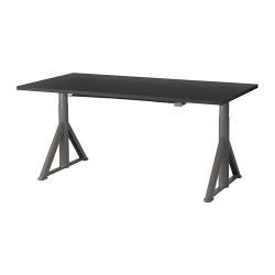 IDÅSEN Escritorio profesional sentado/de pie 160x80 cm negro/gris