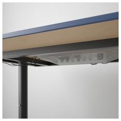BEKANT Escritorio profesional 160x80 cm azul/negro