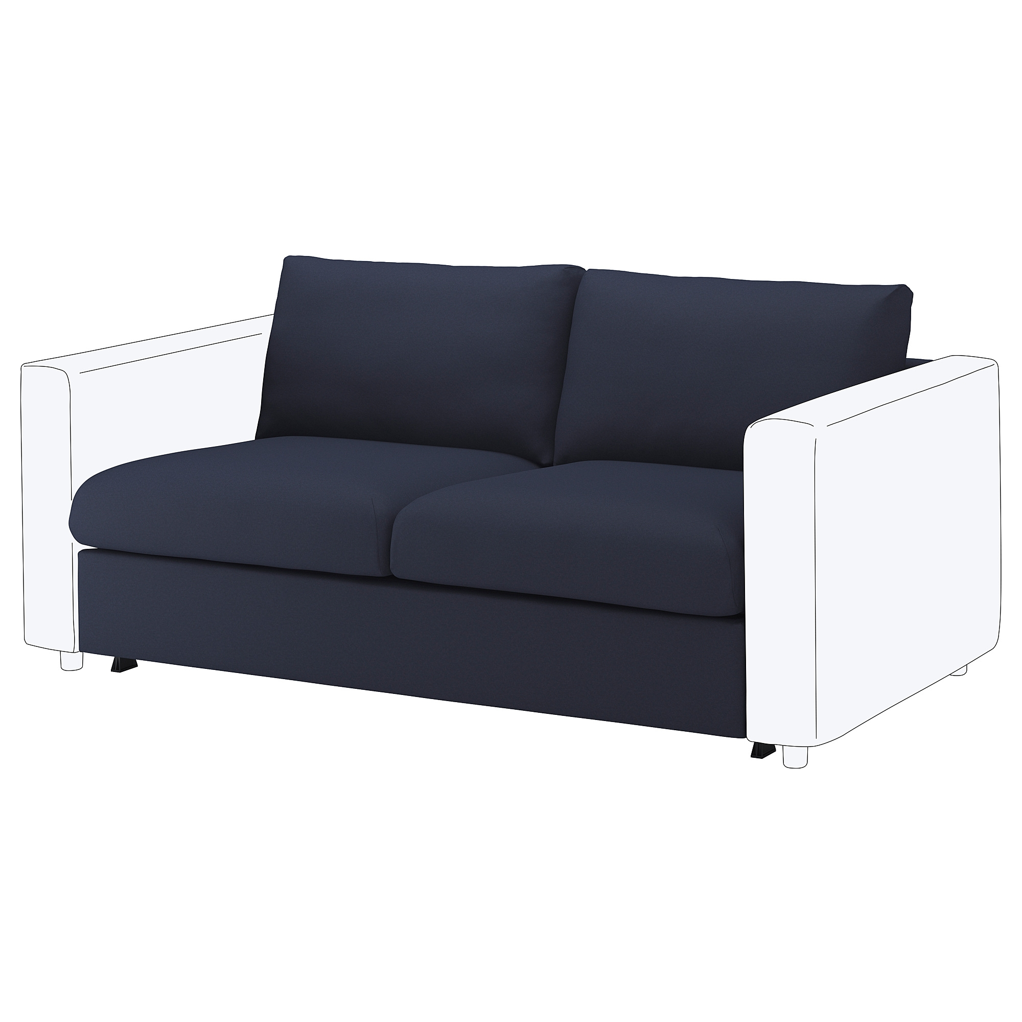 VIMLE 2-seat sofa-bed section